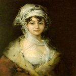Francisco de Goya (1746-1828)  Antonia Zarate  Oil on canvas, 1811  Hermitage, St Petersburg, Russia